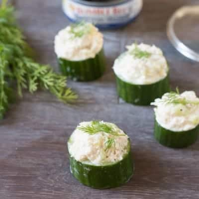 Tuna in Cucumber Cups | tasteslovely.com
