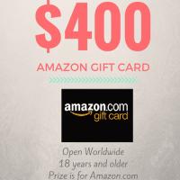$400 Amazon Giftcard Giveaway