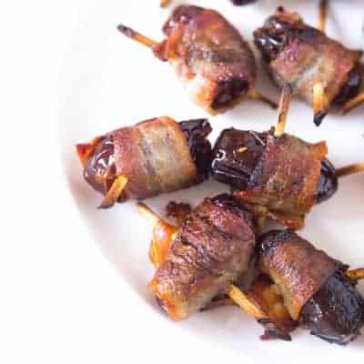 Bacon Wrapped Dates | tasteslovely.com