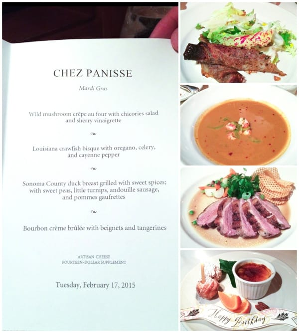 Chez Panisse Birthday Dinner