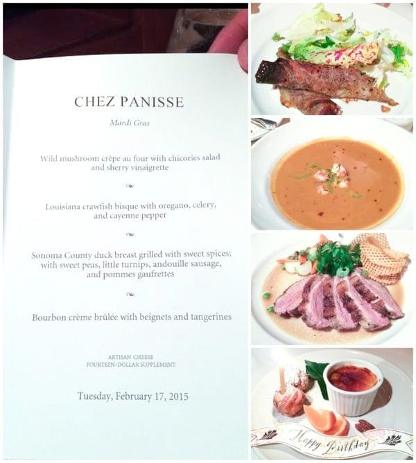Chez Panisse Birthday Dinner