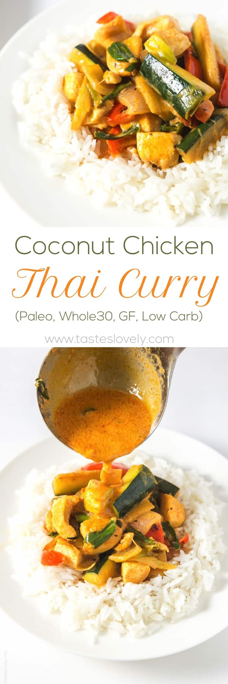 Coconut Chicken Thai Curry - Tastes Lovely
