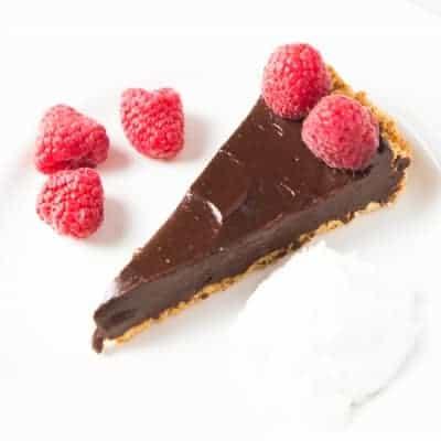 Healthy Chocolate Tart | tasteslovely.com