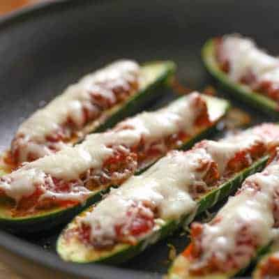 Sausage Stuffed Zucchini | tasteslovely.com