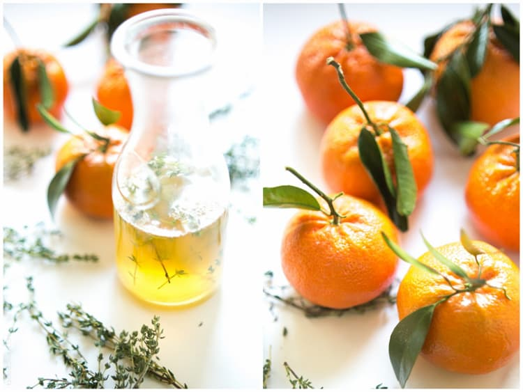 Tangerine & Thyme Martini - refreshing vodka martini, fresh tangerine juice, sweetened with a honey thyme simple syrup