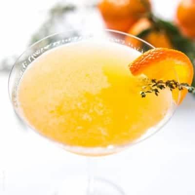 Tangerine & Thyme Martini | tasteslovely.com