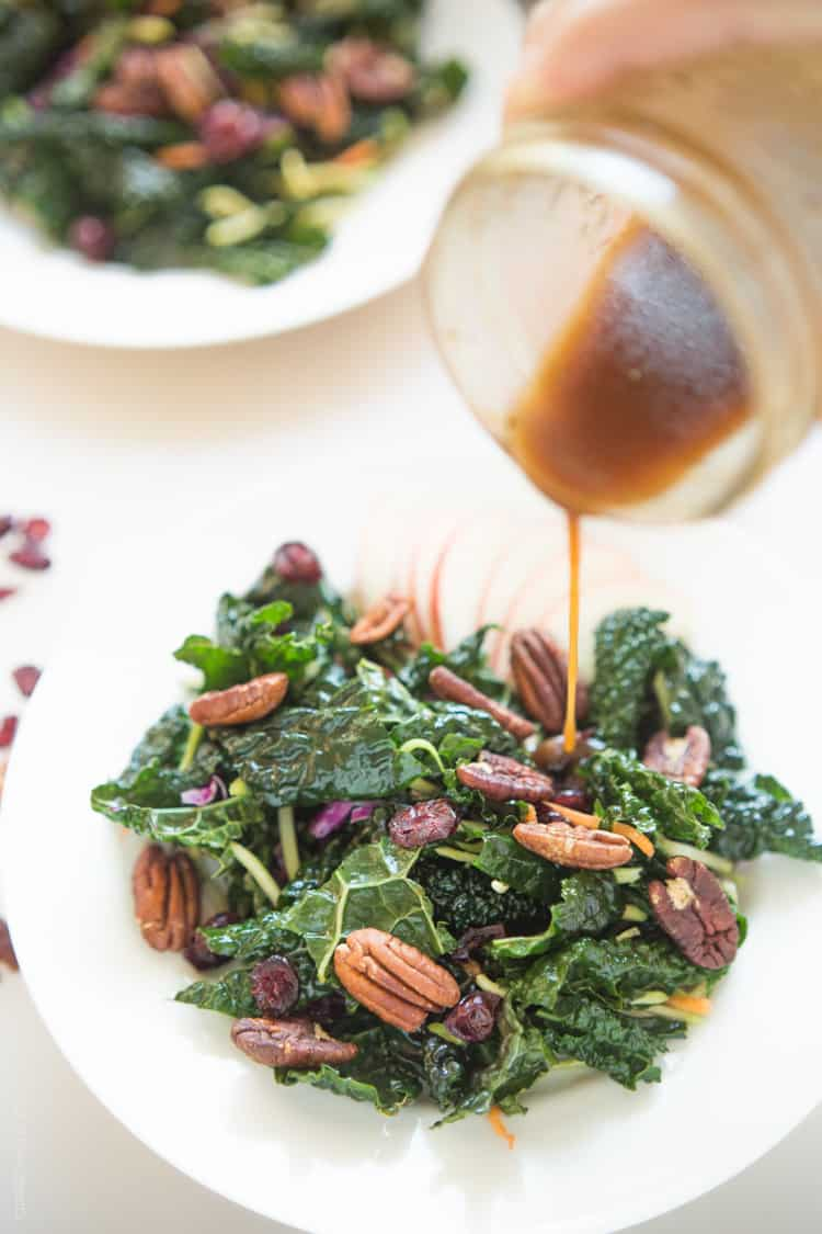 Winter Kale Salad with Apples and Pecans