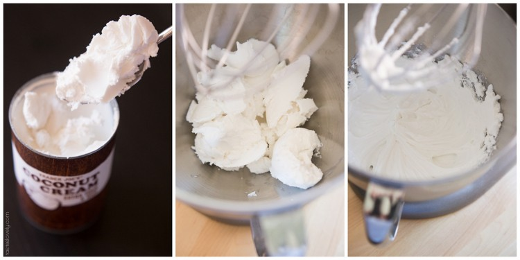 How to make coconut whipped cream from a can of coconut milk, so easy and so healthy! #paleo #whole30 #glutenfree #lowcarb #vegan