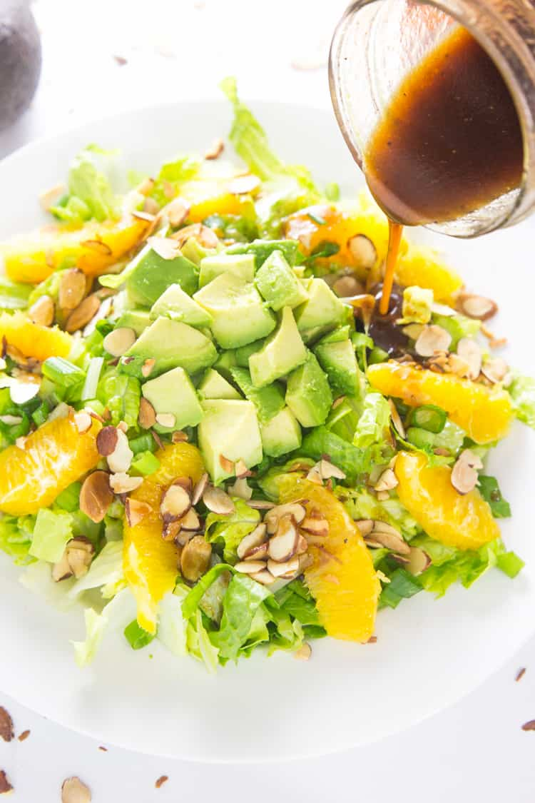 Orange Almond Salad with Avocado - the BEST favorite lunch salad! #paleo #glutenfree #whole30 #vegan-1