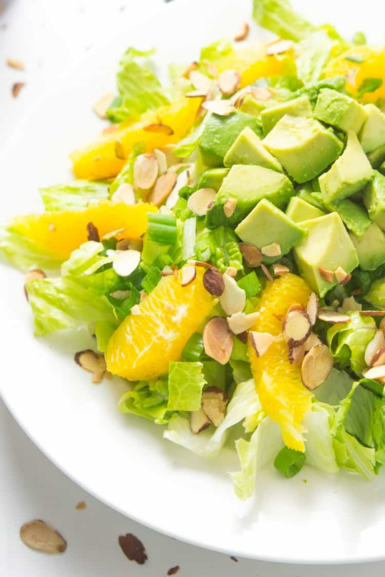Orange Almond Salad with Avocado - the BEST favorite lunch salad! #paleo #glutenfree #whole30 #vegan-2