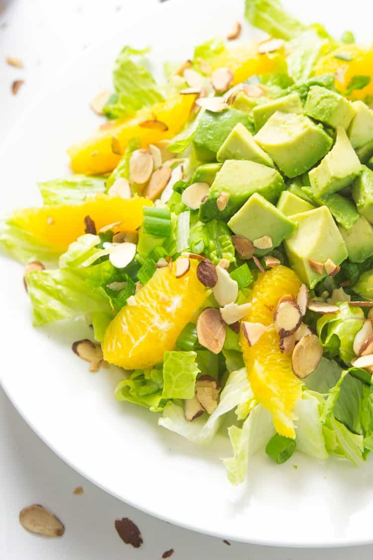 Orange Almond Salad with Avocado - the BEST favorite lunch salad! #paleo #glutenfree #whole30 #vegan-2