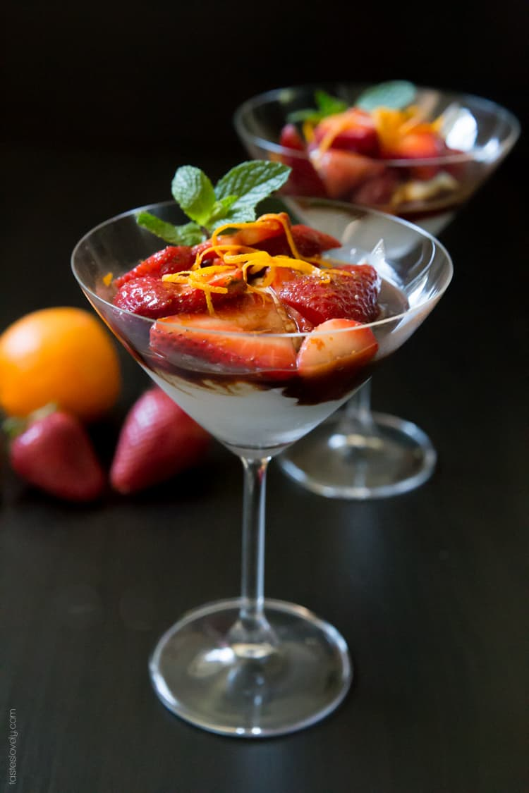 Orange Balsamic Strawberries with Coconut Whipped Cream - a sweet and sour dessert that is full of flavor yet still low in calories #paleo #glutenfree #vegan #healthy-2