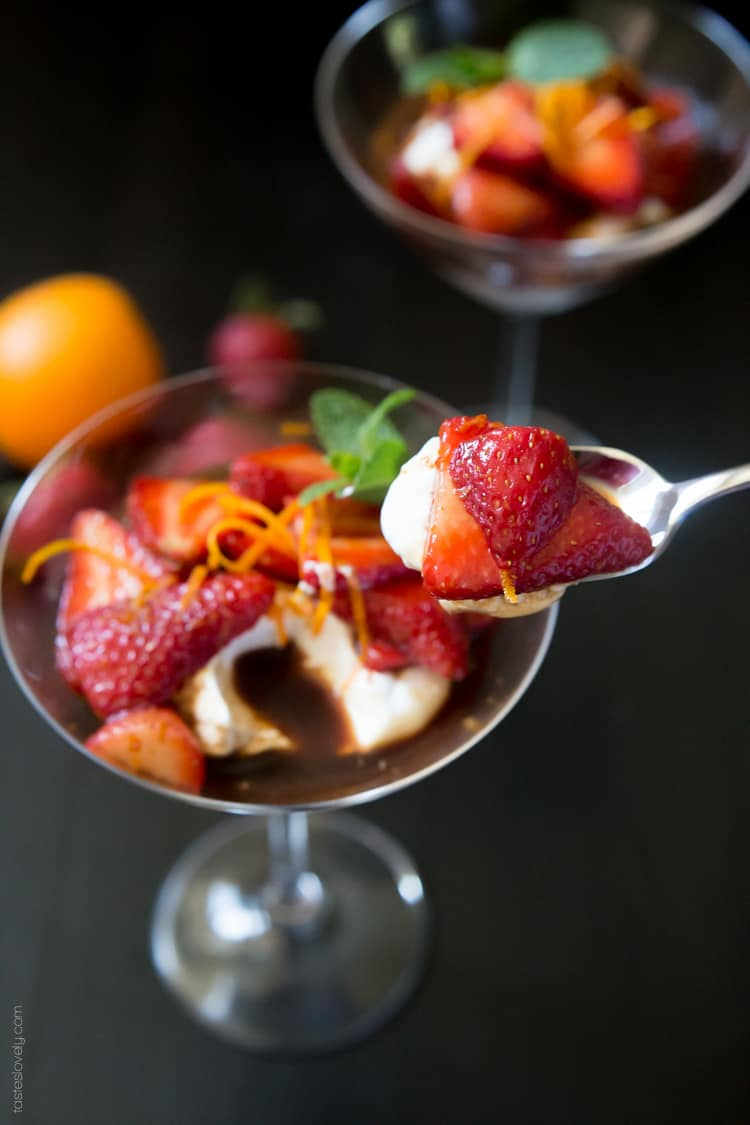Orange Balsamic Strawberries with Coconut Whipped Cream - a sweet and sour dessert that is full of flavor yet still low in calories #paleo #glutenfree #vegan #healthy-3