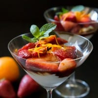Balsamic Strawberries with Coconut Whipped Cream
