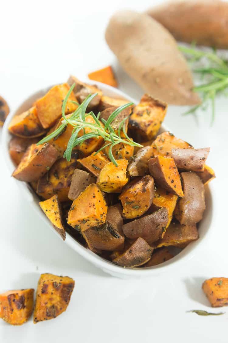 Rosemary Roasted Sweet Potatoes #paleo #whole30 #glutenfree #vegan-1
