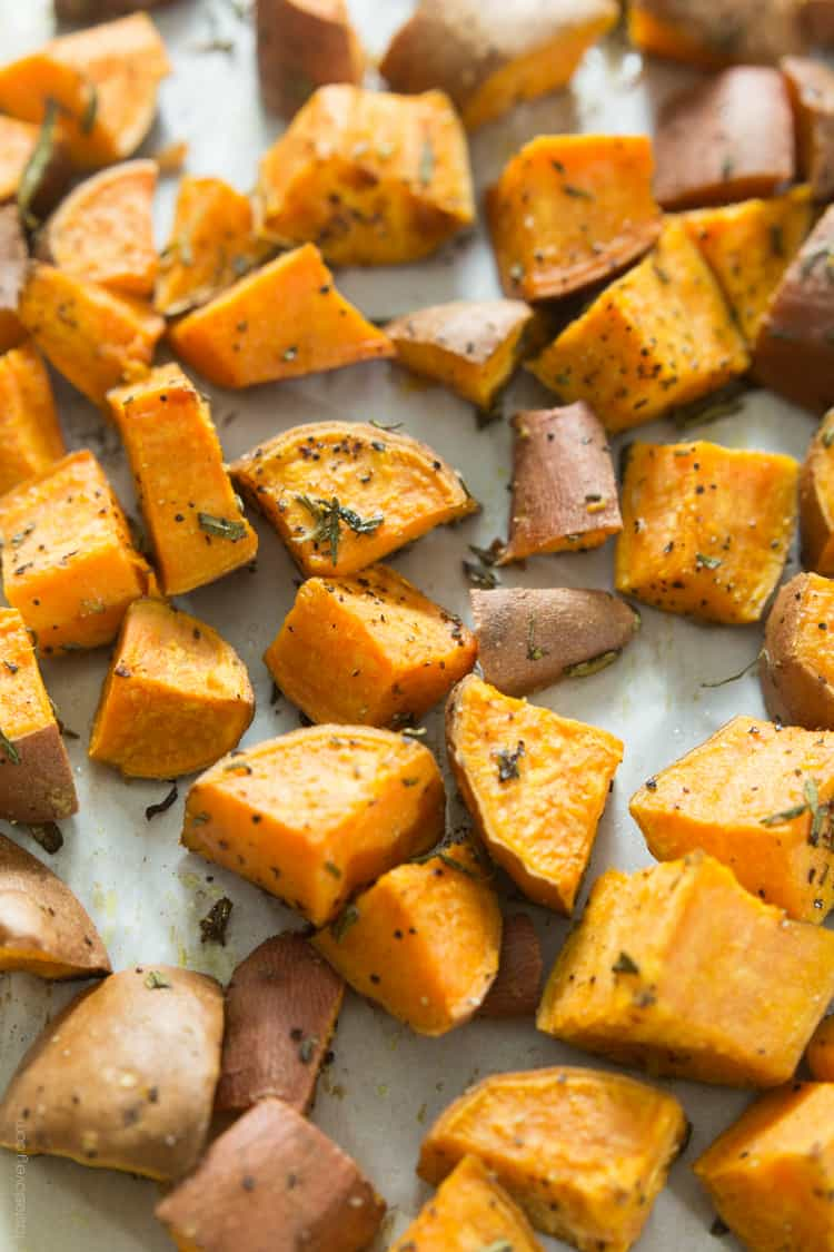 Rosemary Roasted Sweet Potatoes #paleo #whole30 #glutenfree #vegan-3