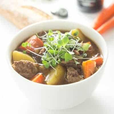 The BEST Slow Cooker Irish Guinness Beef Stew! | tasteslovely.com