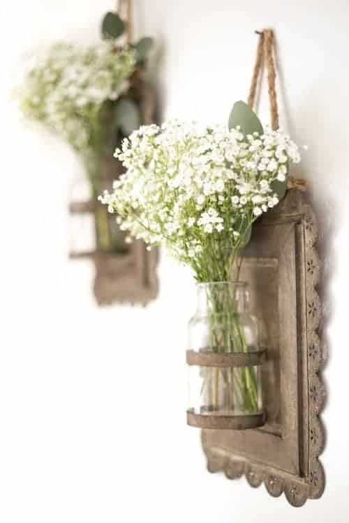 White and Green Flowers