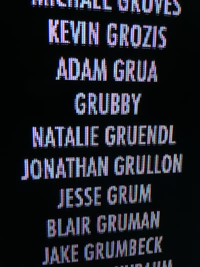 My name in the credits