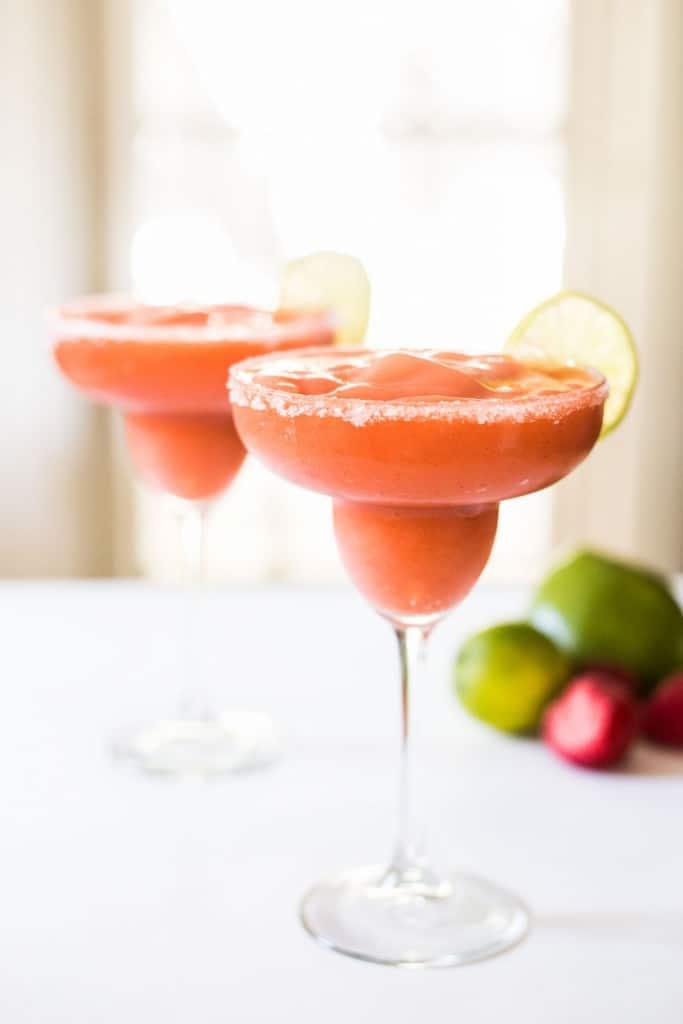 Blended Strawberry Mango Margarita