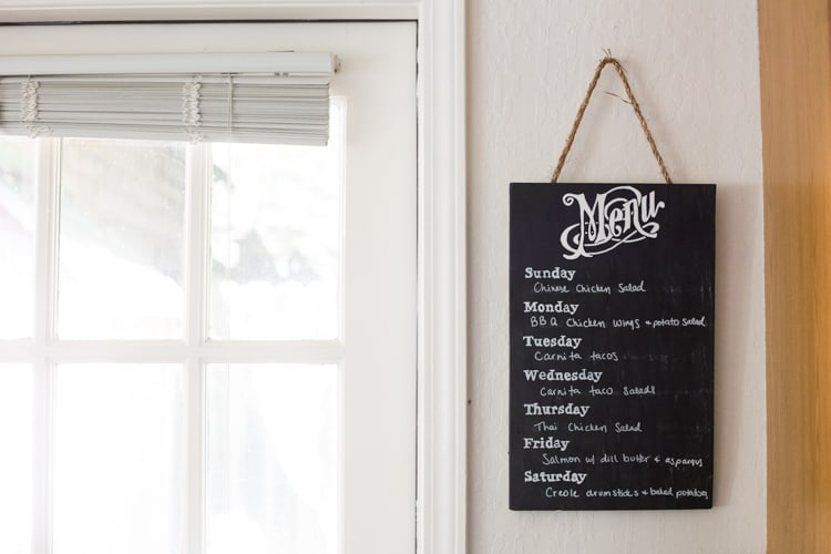 Chalkboard Weekly menu design