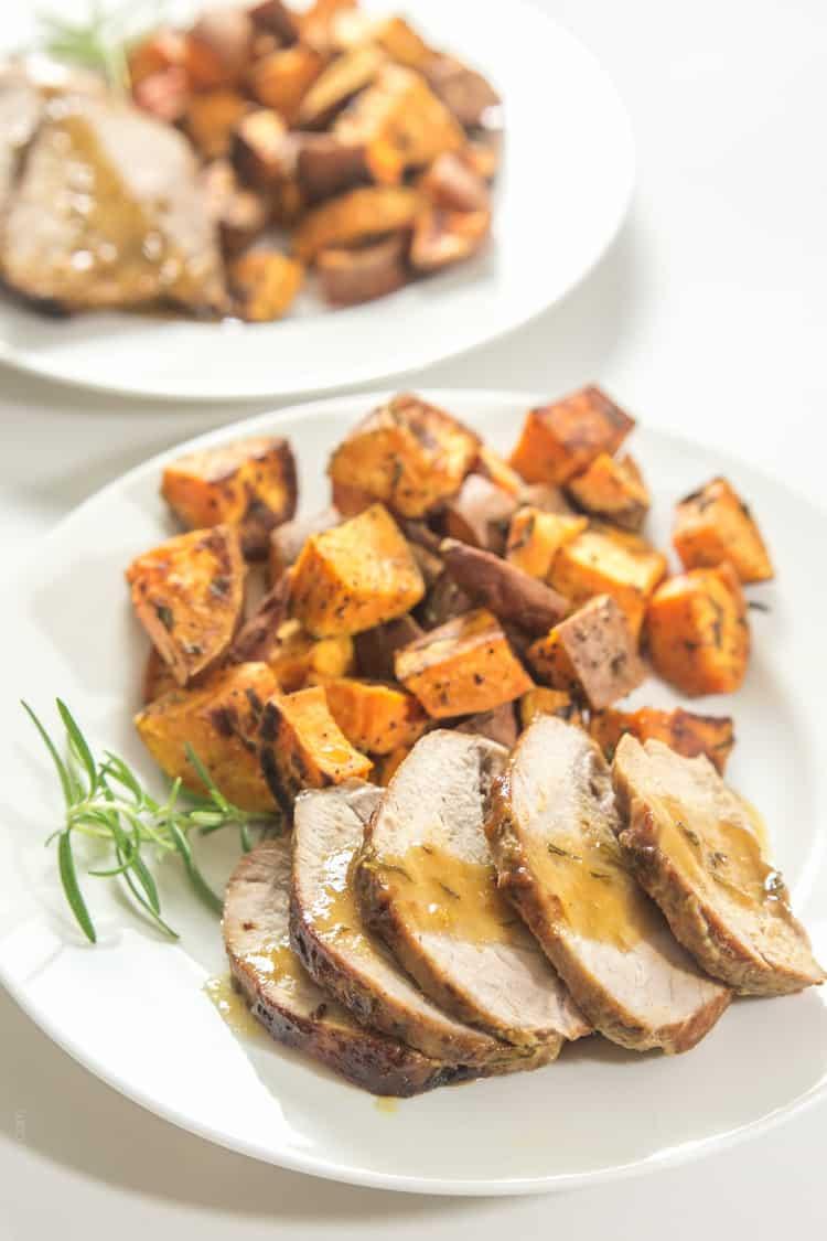 Rosemary Honey Mustard Pork Tenderloin #paleo #glutenfree-3