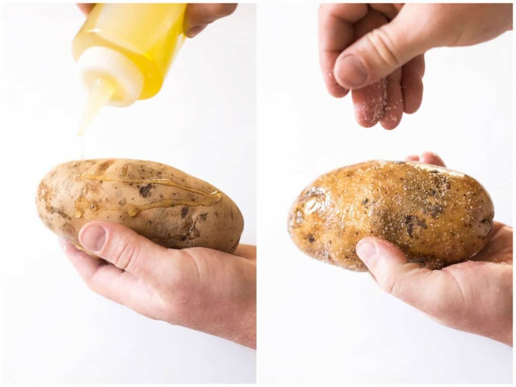 Steakhouse Style Baked Potato - the BEST baked potatoes I've ever had! #glutenfree #vegetarian