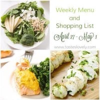 Weekly Menu :: April 27-May 1