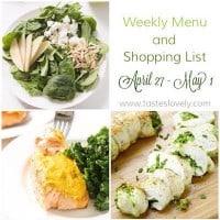 Weekly Menu :: April 27-May 1