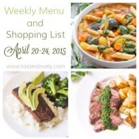 Weekly Menu :: April 20-24