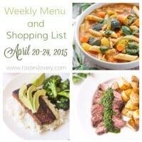 Weekly Menu :: April 20-24