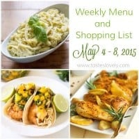 Weekly Menu :: May 4-8