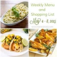 Weekly Menu :: May 4-8