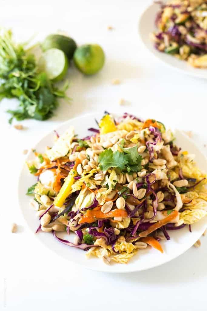 Rainbow Chopped Thai Chicken Salad