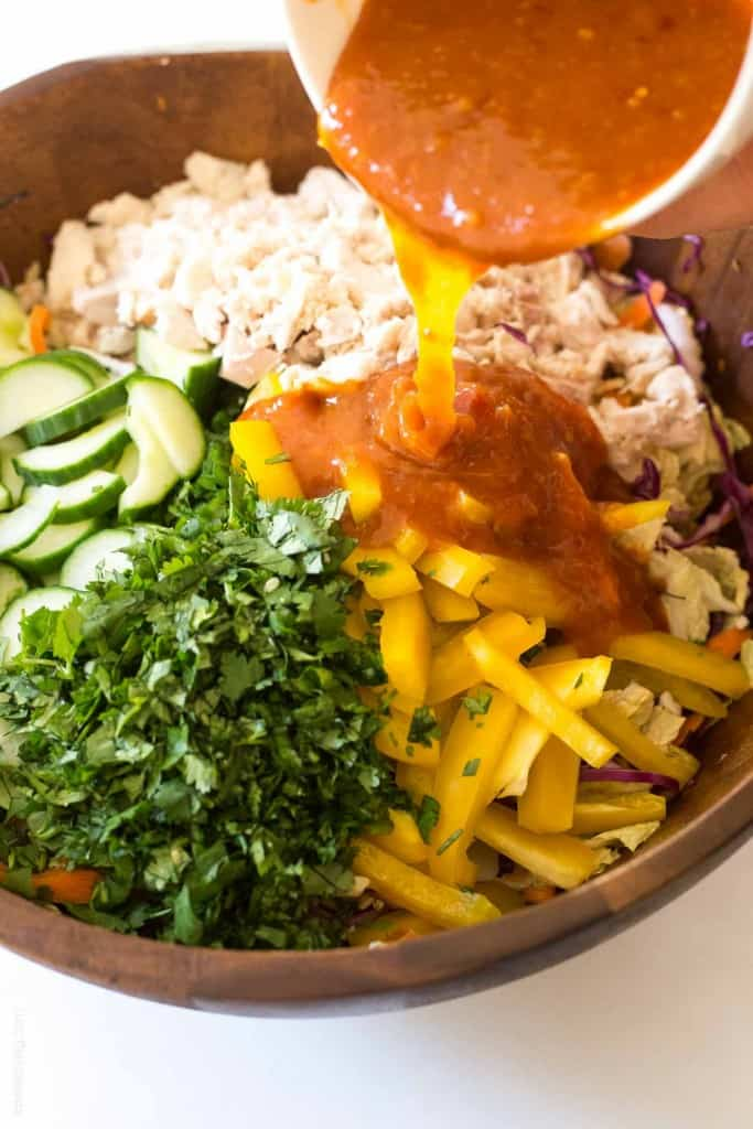 Rainbow Chopped Thai Chicken Salad
