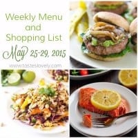 Weekly Menu and Grocery Shopping List, May 25 - 29, 2015 | tasteslovely.com-3