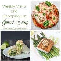 Weekly Menu & Shopping List :: June 1-5
