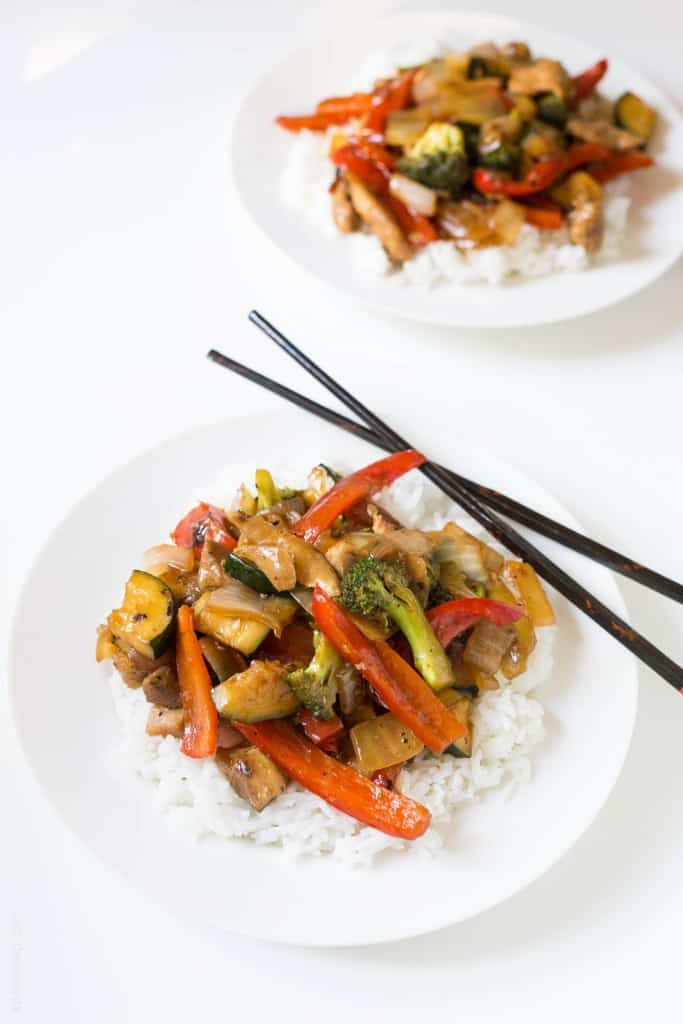 Broccoli and bell pepper chicken stir fry, made with the BEST stir fry ...