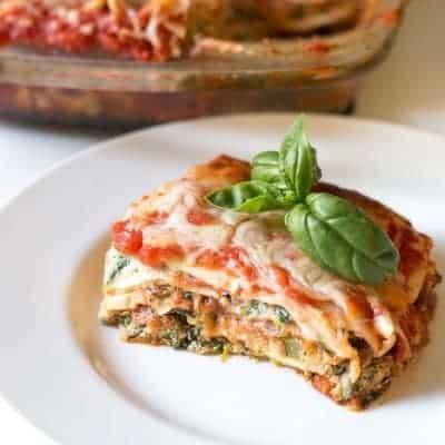 Garden Vegetable Lasagna | tasteslovely.com