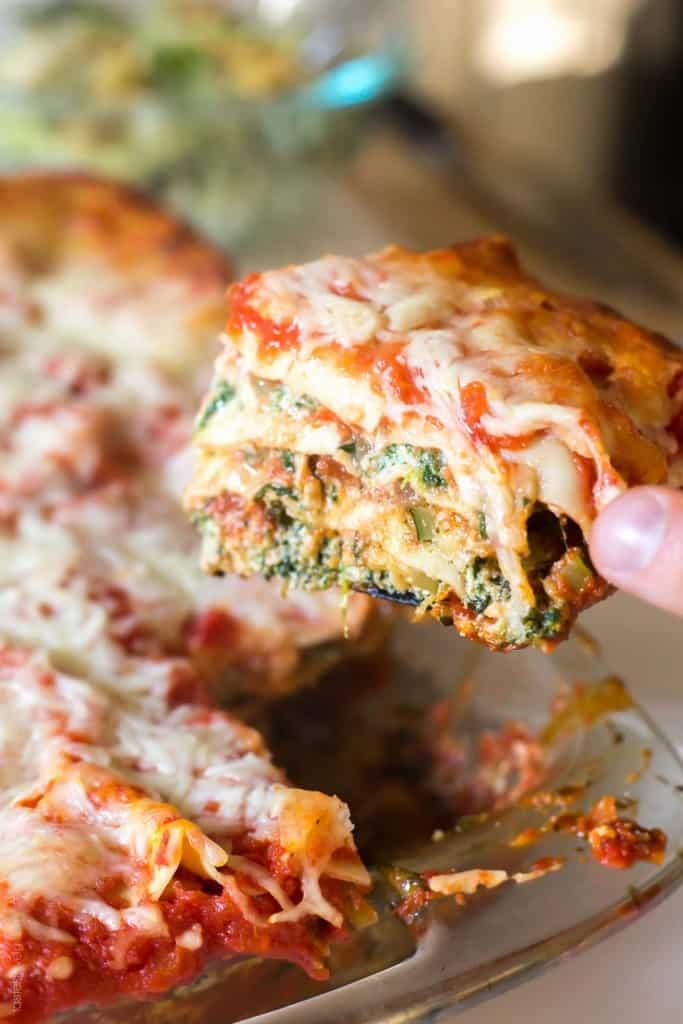 Garden Vegetable Lasagna - vegetarian and freezes beautifully!