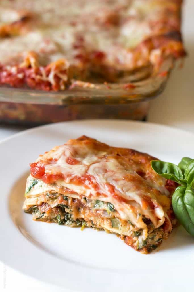 Garden Vegetable Lasagna - vegetarian and freezes beautifully!