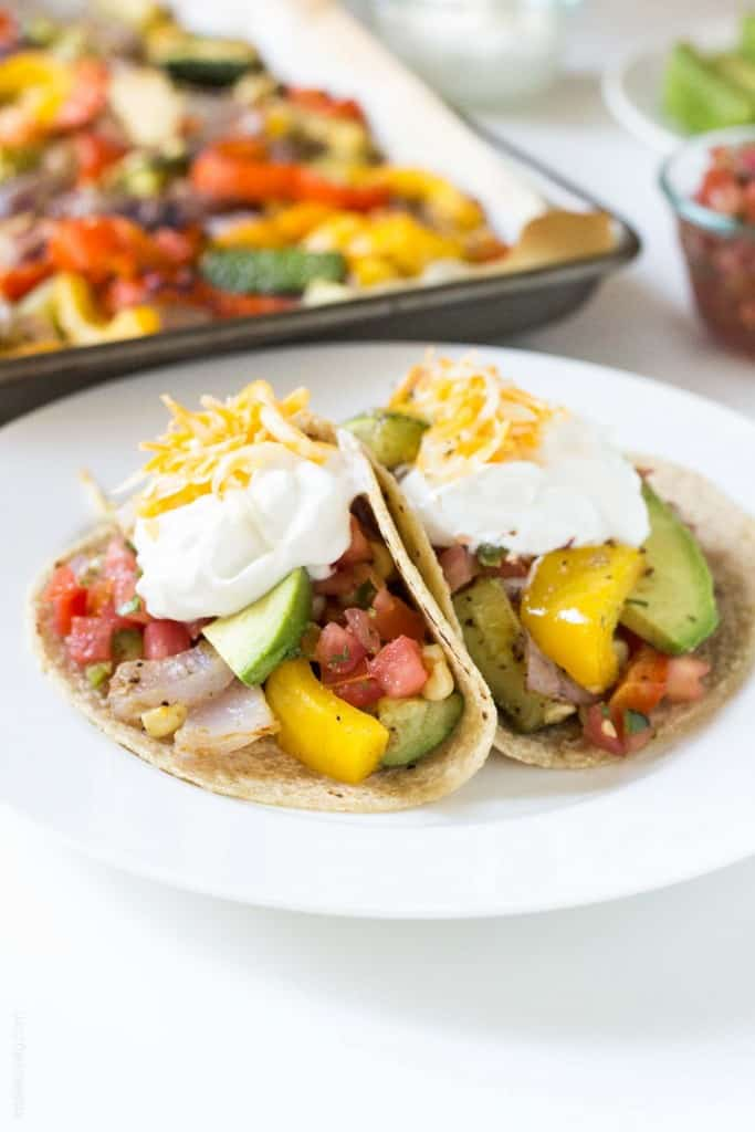 Oven Roasted Vegetable Fajitas - let the oven do all the work for you!