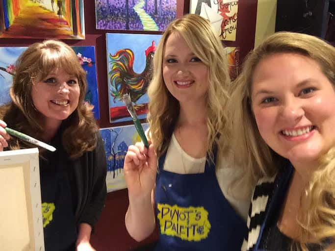Painting at Pinot's Pallete