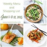 Weekly Menu & Shopping List :: June 8 – 12