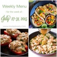 Weekly Menu :: July 27-31, 2015