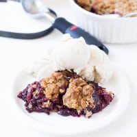 Triple Berry Crumble (made with frozen fruit!)
