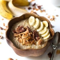 Coconut Banana Steel Cut Oatmeal