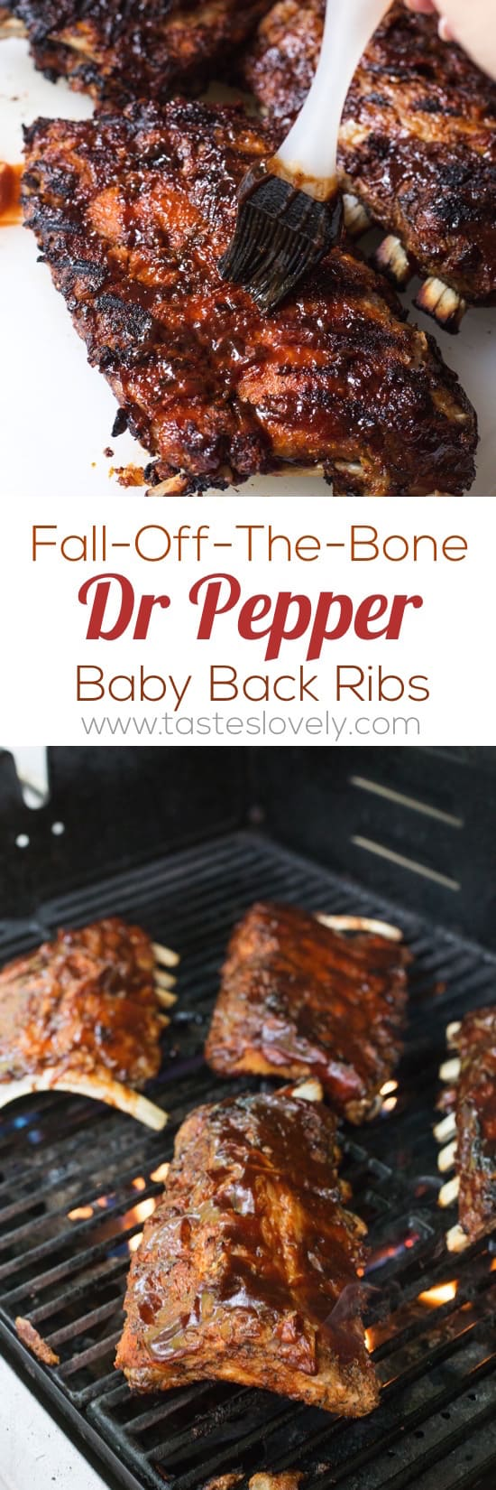 Fall-off-the-bone tender Dr Pepper Baby Back Ribs - the best ribs you'll ever have!