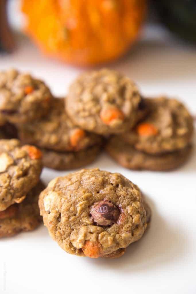 Pumpkin Oatmeal Muffin Top Cookies