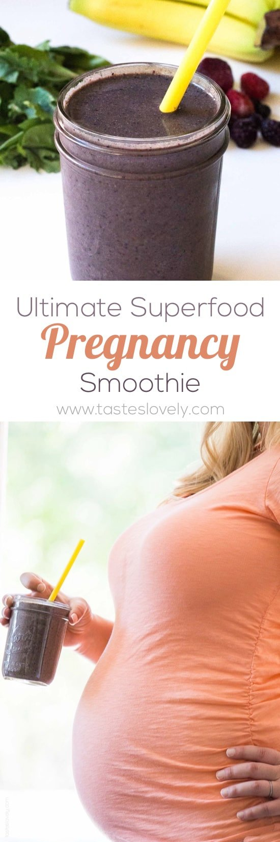 Ultimate Superfood Pregnancy Smoothie - a superfood pregnancy smoothie with everything you and your growing baby need